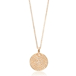 1.03ct Diamond 18k Rose Gold Pendant Necklace