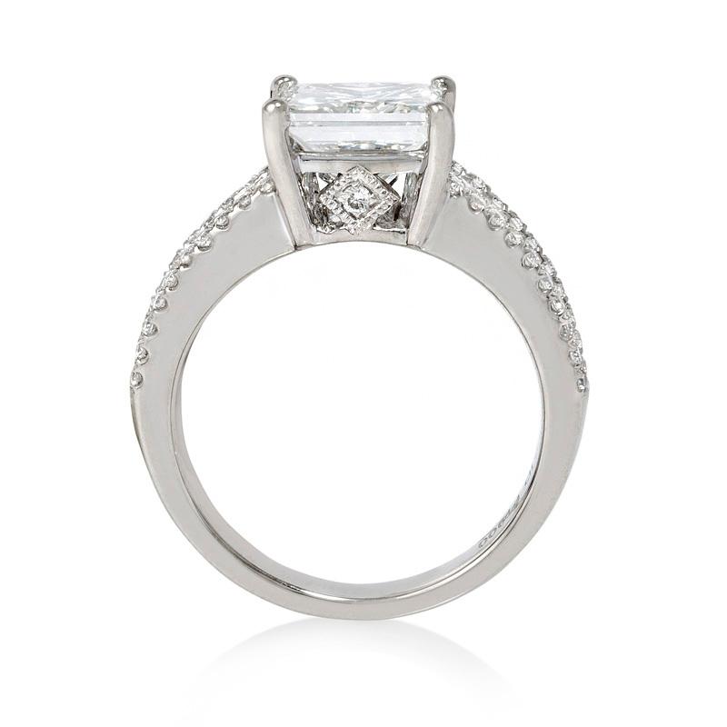 87ct Diamond Platinum Engagement Ring Setting