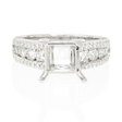 .87ct Diamond Platinum Engagement Ring Setting