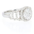 1.28ct Diamond 18k White Gold Ring