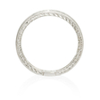 .58ct Diamond Antique Style 18k White Gold Eternity Wedding Band Ring