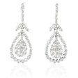 1.00ct Diamond 18k White Gold Dangle Earrings