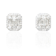 .78ct Diamond 18k White Gold Cluster Earrings