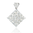 1.85ct Diamond 18k White Gold Heart Pendant