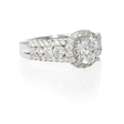 1.03ct Diamond 18k White Gold Halo Engagement Ring Setting