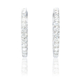 1.30ct Diamond 18k White Gold Hoop Earrings