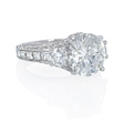 1.86ct Diamond Antique Style 18k White Gold Engagement Ring Setting