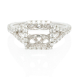 .71ct Diamond 18k White Gold Halo Engagement Ring Setting