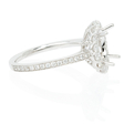 .88ct Diamond 18k White Gold Halo Engagement Ring Setting