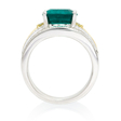 .48ct Simon G Diamond and Emerald 18k Two Tone Gold Ring