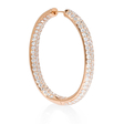 9.55ct Diamond 18k Rose Gold Hoop Earrings