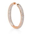 8.45ct Diamond 18k Rose Gold Hoop Earrings