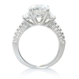 .61ct Diamond Antique Style 18k White Gold Engagement Ring Setting