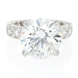 1.54ct Diamond Antique Style 18k White Gold Engagement Ring Setting