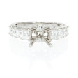 1.59ct Diamond 18k White Gold Engagement Ring Setting