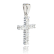 .50ct Diamond,14k White Gold,Cross, Pendant