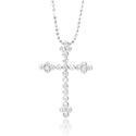 Diamond 14k White Gold Cross Pendant