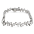 2.85ct Diamond 18k White Gold Tennis Bracelet