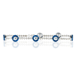 1.08ct Diamond and Blue Sapphire 14k White Gold and Blue Enamel Bracelet