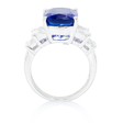 1.18ct Diamond and Tanzanite 18k White Gold Ring