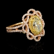 2.41ct Diamond 18k Two Tone Gold Ring