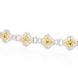 8.72ct Diamond 18k Two Tone Gold Bracelet