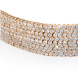 25.31ct Diamond 18k Rose Gold Bracelet