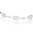 4.12ct Diamond 14k White Gold Bracelet