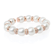 2.11ct Diamond and Pearl 18k Rose Gold Bangle Bracelet
