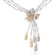 16.37ct Diamond 18k Three Tone Gold Necklace