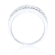 1.00ct Diamond 18k White Gold Wedding Band Ring