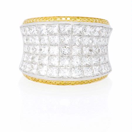 Simon G Diamond 18k Two Tone Gold Ring