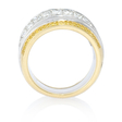 4.58ct Simon G Diamond 18k Two Tone Gold Ring