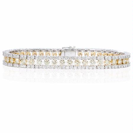 Diamond 18k Two Tone Gold Bracelet