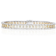 4.65ct Diamond 18k Two Tone Gold Bracelet