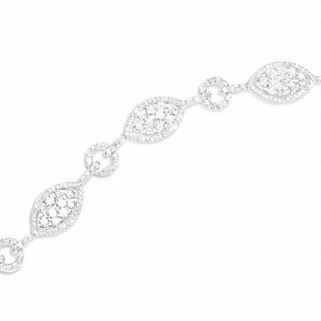 3.99ct Diamond 18k White Gold Bracelet
