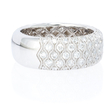 1.68ct Simon G Diamond Antique Style 18k White Gold Wedding Band Ring