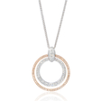.60ct Simon G Diamond Antique Style 18k Two Tone Gold Pendant Necklace
