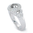 .28ct Diamond Antique Style Platinum Halo Engagement Ring Mounting