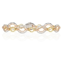 Simon G Diamond 18k Three Tone Gold Bracelet