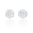 .65ct Diamond 18k White Gold Earrings