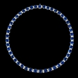 7.66ct Diamond and Ceylon Blue Sapphire 18k White Gold Necklace