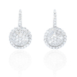 1.21ct Diamond 18k White Gold Dangle Earrings
