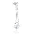 2.80ct Diamond 18k White Gold Dangle Earrings