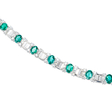 13.17ct Diamond and Emerald 18k White Gold Necklace