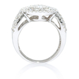2.34ct Diamond 18k White Gold Oval Cluster Right Hand Ring