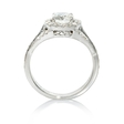 .39ct Simon G Diamond 18k White Gold Halo Engagement Ring Setting