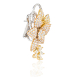 11.10ct Diamond 18k Three Tone Gold Earrings