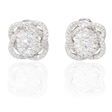 4.02ct Diamond 18k White Gold Cluster Earrings