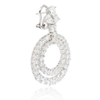 13.33ct Diamond 18k White Gold Dangle Earrings